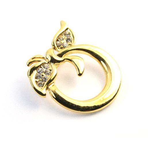 Lidia,brosa placata cu aur de 18 k, colectia Classics