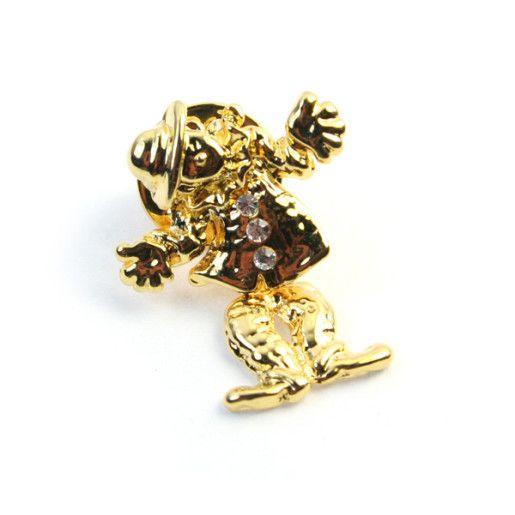 Lucky,brosa placata cu aur de 18 k