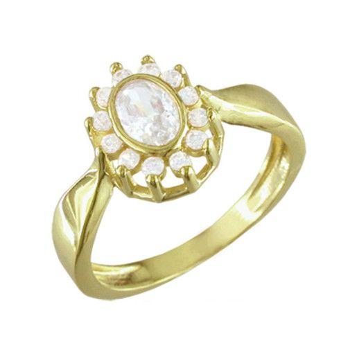 Riya, inel placat cu aur de 18 k , 2 microni
