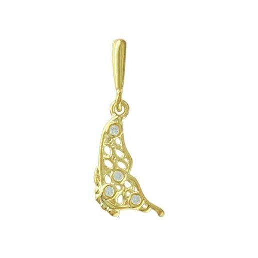 Cercei placati cu aur 18 k. Pietre: zirconia - 1349O817