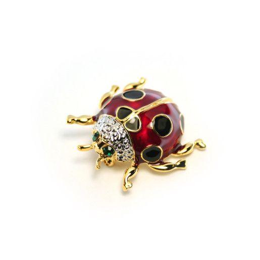 Bubu,brosa placata cu aur de 18 k, colectia Classics