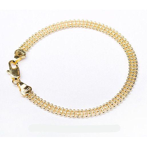 Bratara placata cu aur de 18 k, colectia Golden Shine, fashion line