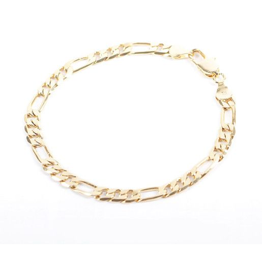 Bratara placata cu aur de 18 k, colectia Golden Shine, model 3+1 clasic