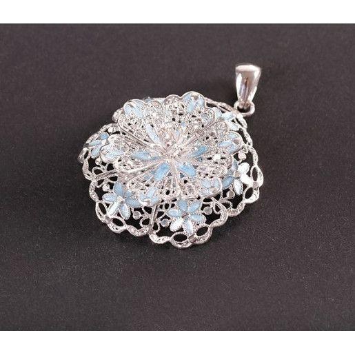 Pandantiv argint 925, design italian, placat cu rodiu - 3106O7110