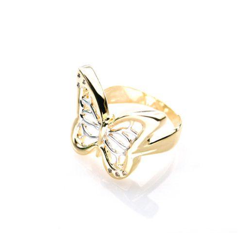 Buterfly, inel placat cu aur de 18 k, productie Brazilia