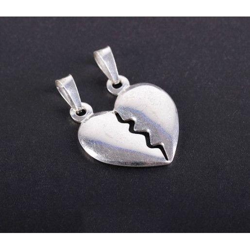 Pandantiv argint 925 rodiat o parte argint lucios si o parte argint mat - 3213O734