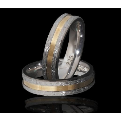 Infinity, verigheta argint 925, placata partial cu aur galben