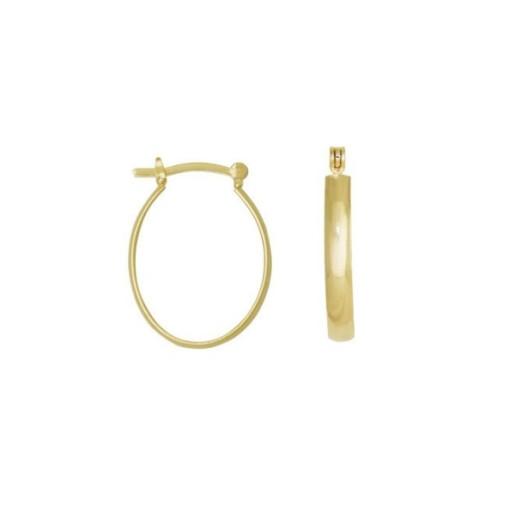 Octavia,Cercei placati cu aur de 18 k, colectia Golden Shine