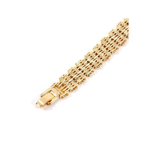 Bratara placata cu aur de 18 k, colectia New Trend, design modern
