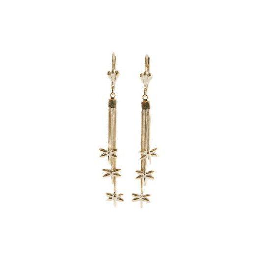 Aimee, Cercei placati cu aur de 18 k, colectia Golden Dangle