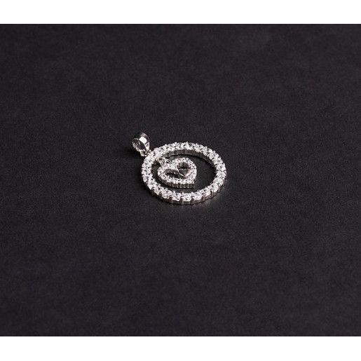 Pandantiv argint 925, design italian. Pietre: zirconia albe - 4924O751