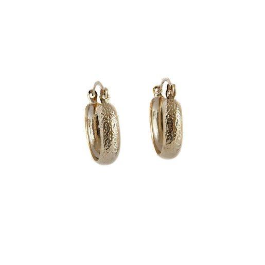 Cercei, creole, placati cu aur de 18 k, 2 microni, productie Brazilia - 5627O89