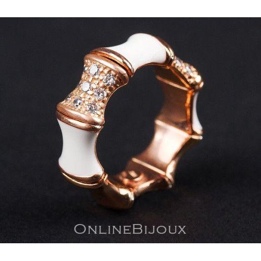 Emily, inel argint 925, rodiat cu aur roz , cu email
