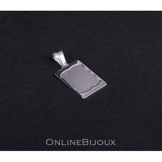 Pandantiv cu spatiu pentru inscriptionat, argint 925 rodiat, design italian - 5665O739