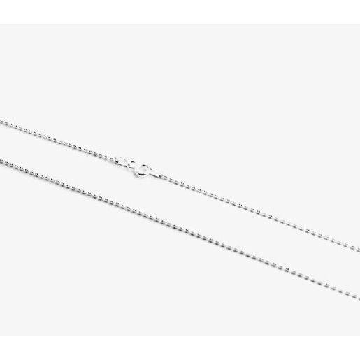Lant argint 925, rodiat, design italian, model cu biluta - 577O324
