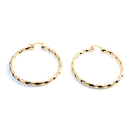 Cercei placati cu aur de 18 k, colectia onlinebijoux golden shine Brazil 5781O836