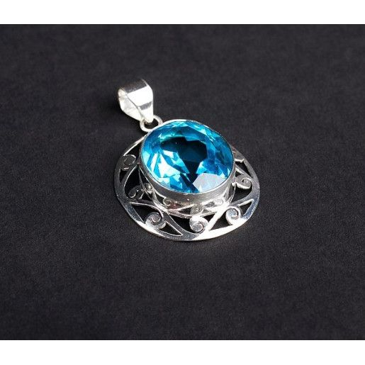 Pandantiv argint 925, design indian. Pietre: topaz - 5905O771