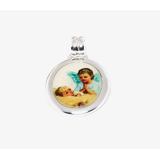 Pandantiv pentru copii, argint 925, model iconita multicolora