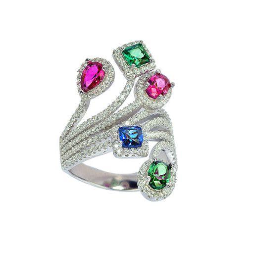 Multistone, inel argint 925