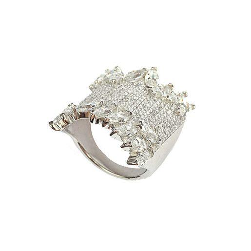 Yasmine, inel argint 925, design italian