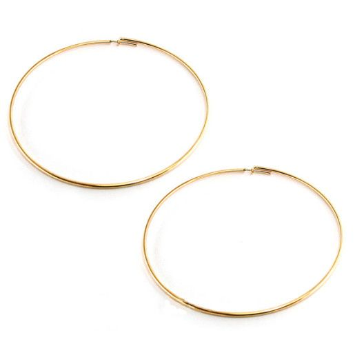 Asha, Cercei placati cu aur de 18 k, colectia Golden Shine