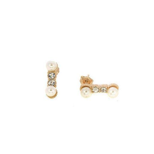 Mabel, Cercei placati cu aur de 18 k, colectia Pearl trend