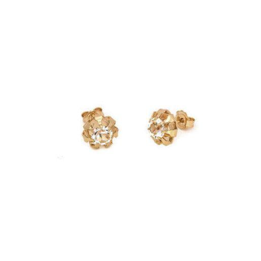 Amy, Cercei placati cu aur de 18 k, colectia Golden Cristal