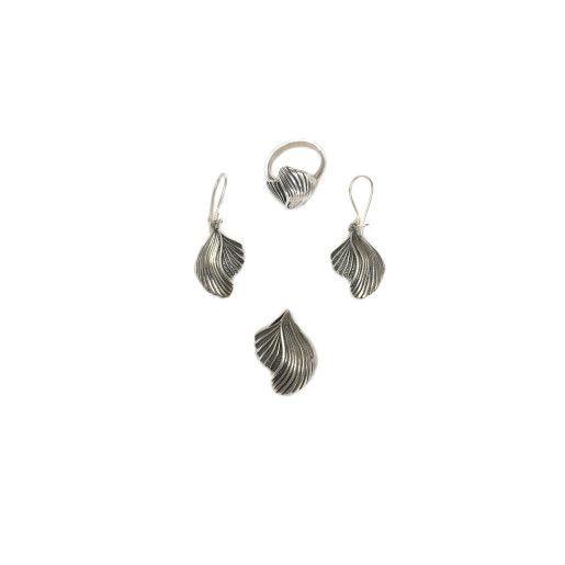 Set argint 925, cu insertii inegrite, model vintage - 6119O5175