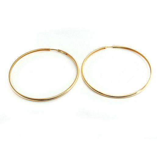 Eliza, Cercei placati cu aur de 18k, colectia Golden Shine Brazil