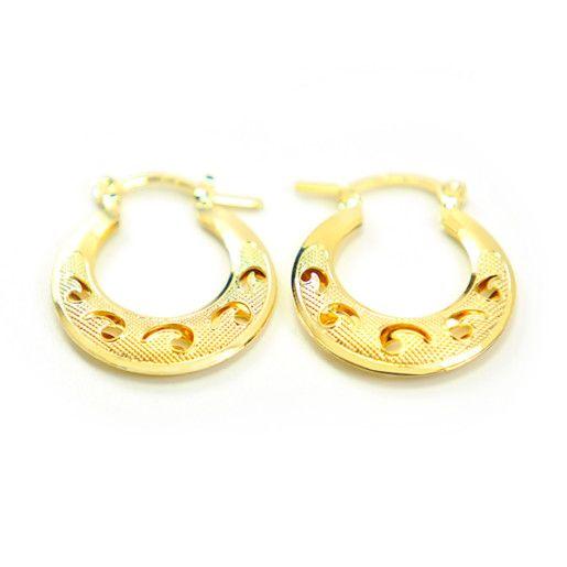 Eda, Cercei placati cu aur de 18 k, colectia Golden Shine Brazil