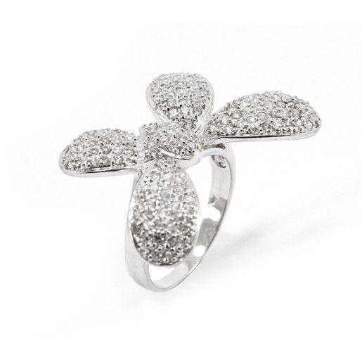 Victoria, inel argint 925, rodiat