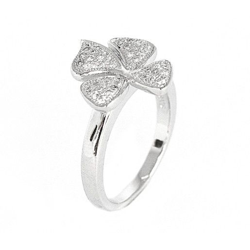 Flower-power, inel argint 925, rodiat