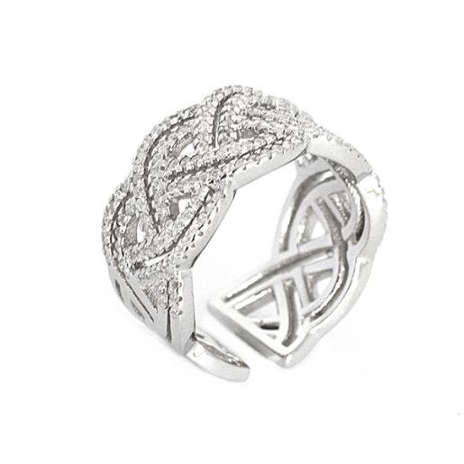 Infinity , inel argint 925, rodiat