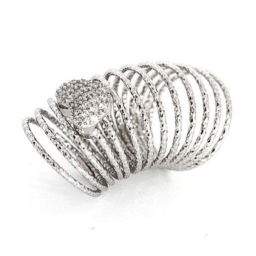 Inel argint 925, colectia Milano trend , rodiat ,
