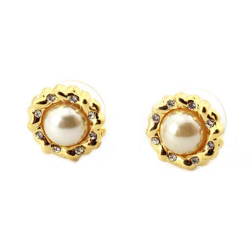 Lolita, Cercei placati cu aur de 18 , colectia Golden Pearl