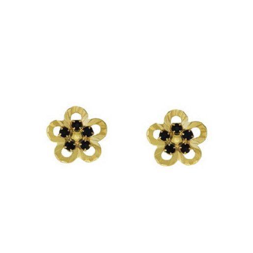 Cercei placati cu aur, colectia Golden Shine-6446O819