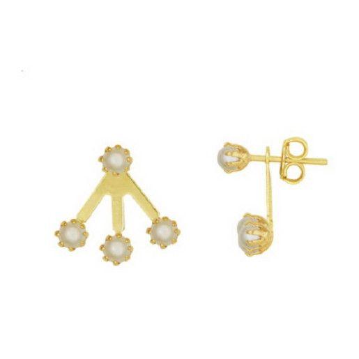 Cercei placati cu aur, colectia Golden Shine-6448O819