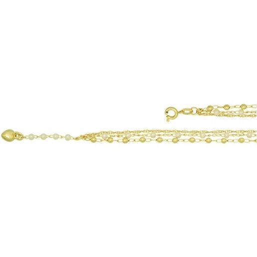 Bratara placata cu aur de 18 k, colectia Golden & Pearl style