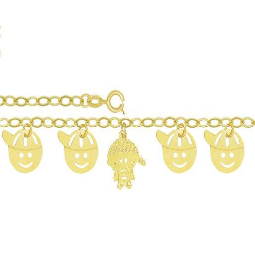 Bratara placata cu aur de 18 k, colectia Golden Funny