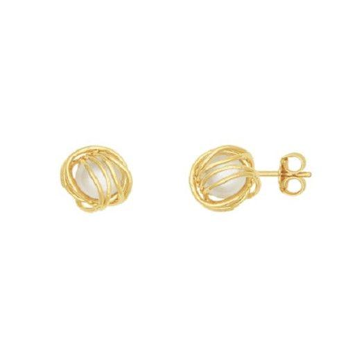 Cercei placati cu aur, colectia Golden Shine-6456O821