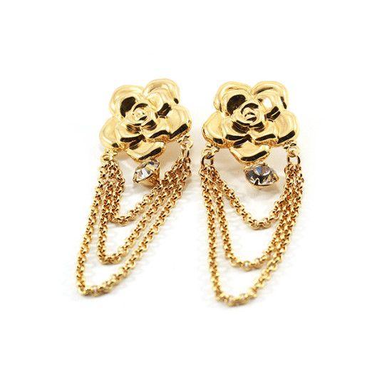 Cercei placati cu aur, colectia Golden Shine-6519O818