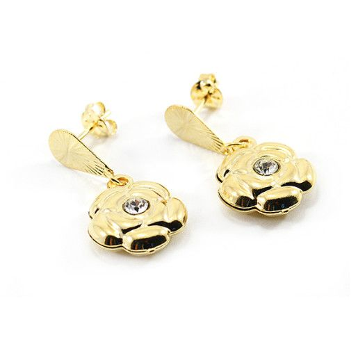 Cercei placati cu aur, colectia Golden Shine-6521O815