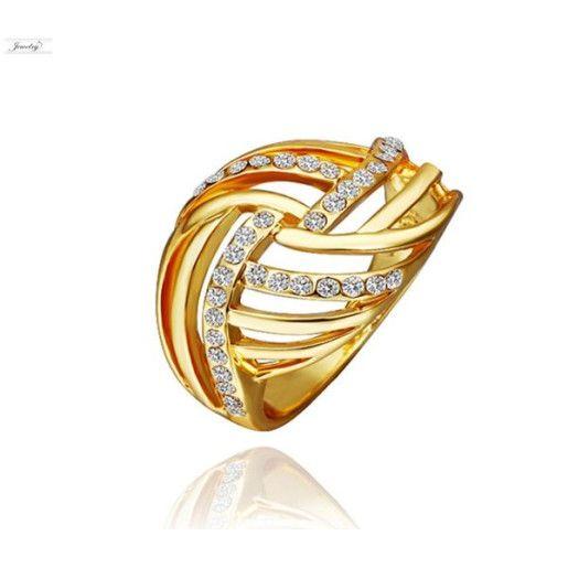 Seleny, inel placat cu aur de 18 k