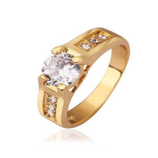 Seniorita, inel placat cu aur de 18 k, 2 microni