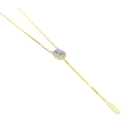 Colier placat cu aur, colectia Golden Shine-6649O351