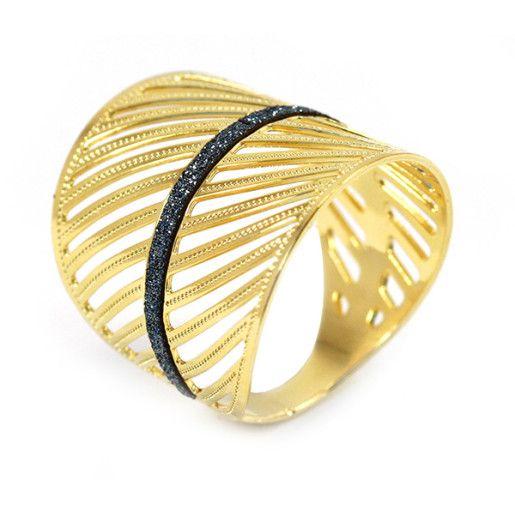 Ramya, inel placat cu aur de 18 k, productie Brazilia, 2 microni - 53