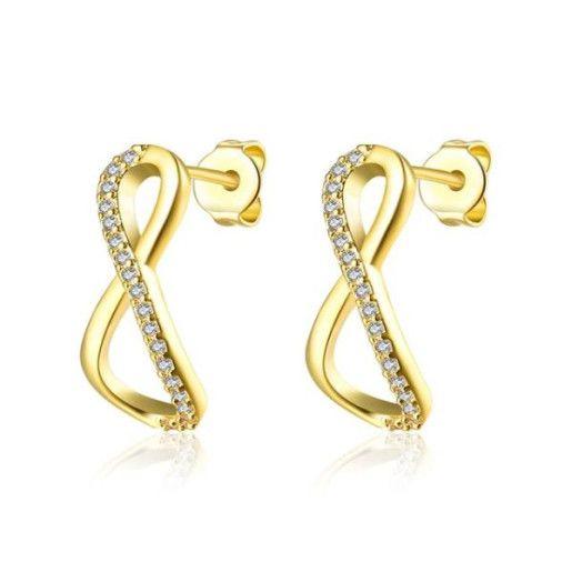 Cercei placati cu aur, colectia Golden Shine-6691O815