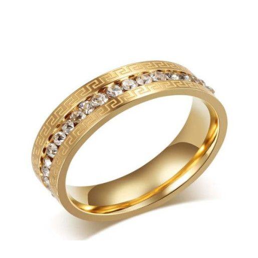 Inel placat cu aur de 18 k, cu model versace