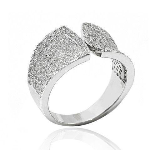 Cate,inel argint 925, rodiat, model elegant