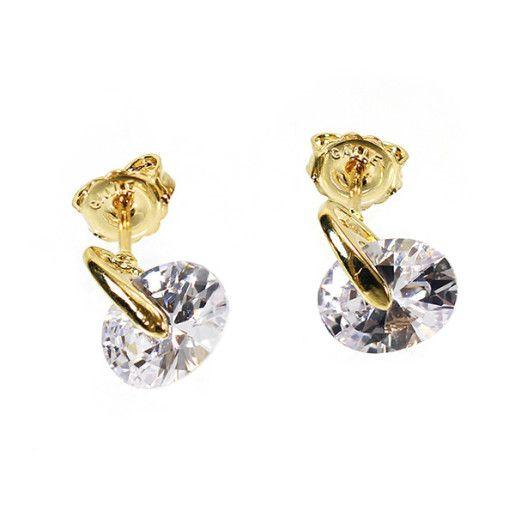 Cercei placati cu aur, colectia Golden Shine-6734O825